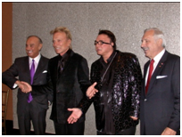 Siegfried and Roy with Bill Hetzler, at right